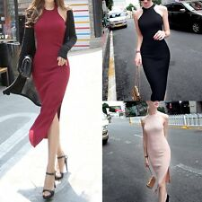 Ladies Women Sleeveless Bodycon Pencil Dress Cocktail Evening Party Long Dress