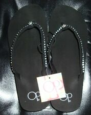 OP OCEAN PACIFIC Womens JEWELED FLIP FLOP SANDALS >>>SUPER FAST SHIPPING!!!
