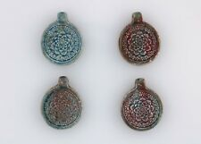 Lotus Flower Raku Ceramic  Pendants, Choice of Lot Size & Price
