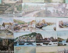 Postcards - CORNWALL - Topographical Artist signed - PAINTINGS - Choice of 10