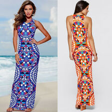 New Womens Evening Party Dress Boho Summer Beach Long Maxi Dresses Sundress