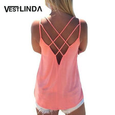 Summer 2017 Sexy Women Tank Top Ladies Camisole Sleeveless Strap Vest Backless