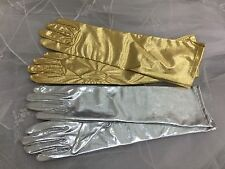 "15.5"" Metallic Gloves Adult Elbow Length."