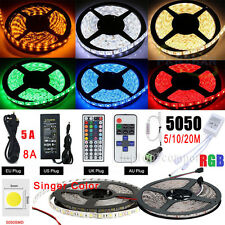 5-20M RGB 5050 SMD Non/Waterproof 300 LED Light Strip Flexible +Remote+12V Power