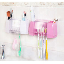 Multifunctional toothbrush.holder storage box bathroom accessories suction hooks