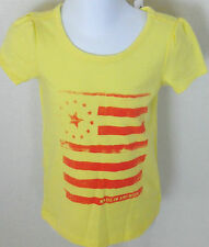BABY GAP Girl's Yellow American Flag Short Sleeve Tee Shirt Size 3T