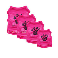 Pet Dog Cat Clothes Puppy Vest T Shirt Dress Coat Apparel Costume Summer Spring