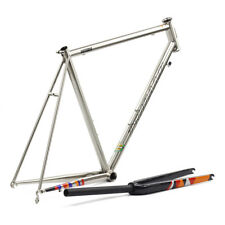 Chrome CR-MO Steel Road Bike Frame Carbon Fork 700C Classic Frameset TSUNAMI