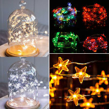 2/3/4M 20/30/50 LED Battery Operated Copper Wire String Fairy Light Party Decor