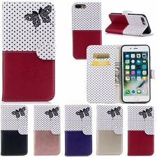 Luxury Leather Magnetic Flip Stand Card Slot Wallet Case Cover For iPhone 5S 6 7