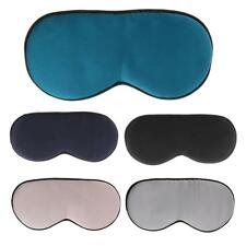 Silk Sleep Eye Mask Travel Cover Plane Nap Rest Sleeping Aid Blindfold Eyeshade
