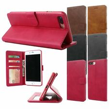 Luxury Genuine Leather Wallet Magnetic Case Cover For Apple iPhone 6 6S 7 Plus