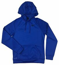 Nike Mens KO Swoosh Dri-Fit Therma-Fit Pullover Hoodie Shirt Blue New