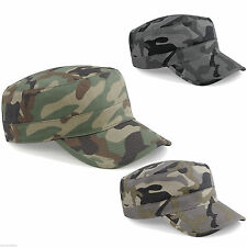 Beechfield Adults Camouflage Military Army Hat Baseball Peak Camo Urban Cap New