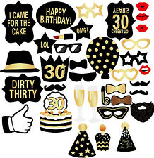 New 36PCS 30th Birthday Party Decor Graphix DIY Photo Booth Props Photo Booth B