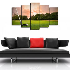 Modern Abstract Canvas Oil Painting Print Wall Art Decor,The tree Grass, golf