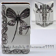 For Huawei Mate 10 Pro P10 Plus - Dragonfly Print Flip Wallet Phone Case Cover
