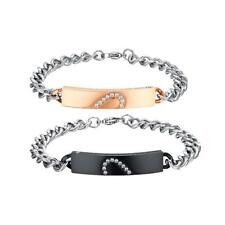 Lover 316L Stainless Steel Chain Couple Bangle Bracelet Valentine's GiftsJewelry