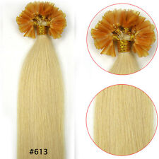 New Light Blonde Nail U Tip Keratin Fusion Remy Human Hair Extensions Straight