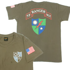 US Army 75th Ranger Regiment Rangers RGT Special Forces T shirt [Ranger Green]