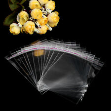 100pcs Plastic Clear Transparent OPP Self Adhesive Seal Bag Resealable Poly Bags