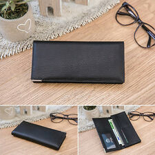 NWT OMNIA Dron mens Cowhide Leather Slim Long Wallet Purse Card Hold g0872