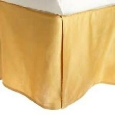 1 Qty Bed Skirt/Valance 1000 TC Pkt Drop 35 Cm Egyptian Cotton Gold Solid