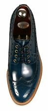 HANDMADE Men's Cow Leather Oxfords Wingtip Derby Blucher Casual Shoes 966