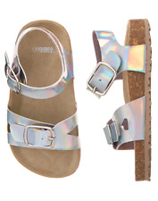 NWT Gymboree Mermaid cove Silver Sandals Shoes 6,7,8 9,11,12,13,1,2,3,4 Girls