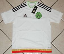 Adidas Mexico Away Soccer Jersey, M36013, White, Youth Sizes