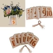 10pcs/Set Wooden Tag Table Numbers Wedding Centerpiece Table Decoration