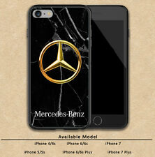 Mercedes Benz Gold Logo Print On Plastic Hard Case For iPhone 5 5s 6 6s 7 (Plus)