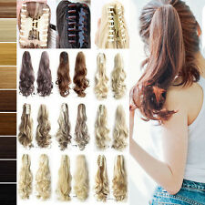 100% Natural Claw on Ponytail Clip in Pony Tail Hair Extensions Extension Jaw T0