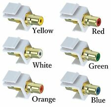 RCA Keystone Modular Jack Female Coupler for Home Theater Video Audio Wall Plate