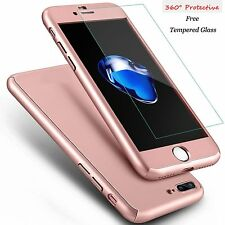 360° Full Body Premier Hard Ultra Thin Case+Tempered Glass Cover For iPhone 6s 7