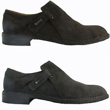Calvin Klein Mens Edwin Grey or Dark Brown Suede Business Casual Loafers Shoes