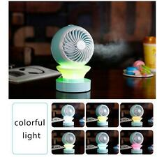Portable LED Mini Fan USB Rechargeable Fan Humidifier Air Conditioner Cooler Hot