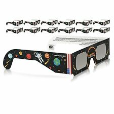 Solar Eclipse Glasses 2017 Galaxy Edition (10 Pack) CE and ISO Standard Viewing^