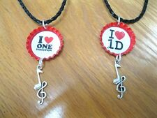 New One Direction Themed Bottlecap Necklaces Your Choice of Images/Colors