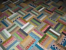 UNFINISHED HANDMADE QUILT TOP  approx  82  X  95  inches