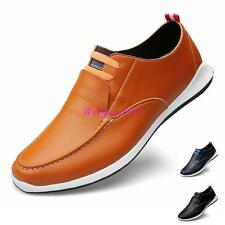 Mens  Breathable Leather Casual Slip On Moccasin Loafers dress Plus Size Shoes