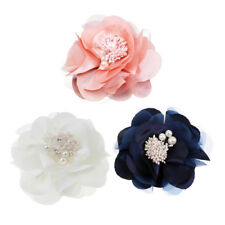 Vintage Brooch Corsage Fabric Camellia Brooch Pin Flower Clip Decoration