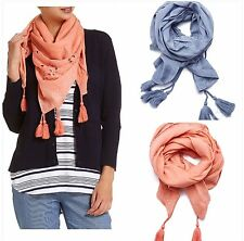 NEW SPORTSCRAFT Women's Layla Scarf Scarves Wraps - Chambray/Melon