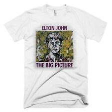ELTON JOHN White Big Picture Black Australia/NZ/SE Asia 1998 Tour T-Shirt RARE