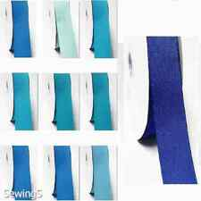 """Top Quality Grosgrain Ribbon 5/8"""" /16mm Thin 100 Yards, Lot Blue s #352 to #374"""