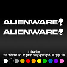 "6"" Alienware PC Laptop Diecut Bumper Car Window Diecut Vinyl Decal sticker"