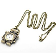 New Jewelry Brass Tone Ladies Necklace Coat Chain Key Chain Pocket Watch
