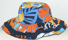 Gymboree Girl's Tropical Bloom Navy Flower Pattern Hat Size 0-12 Months