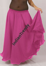 Orchid - 2 Layer Reversible Skirt Belly Dance Gypsy 9 Yd Fulll Circle Jupe Gonna