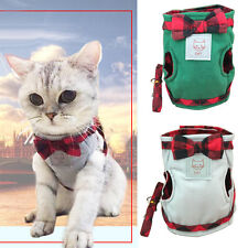PET CAT HARNESS JACKET WALKING TRAINING GRIP STRAPS LEASH TRACTION BELT ALLURING